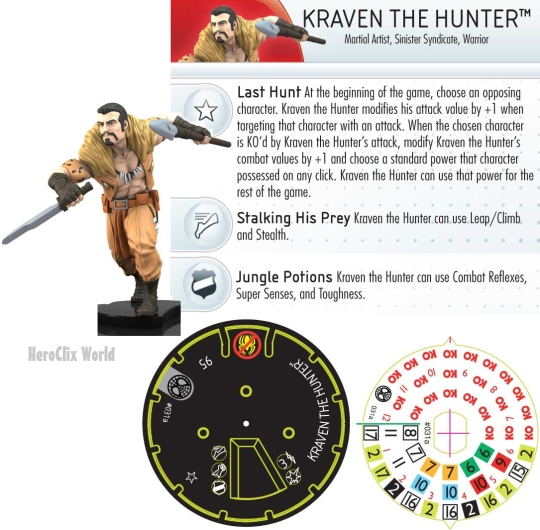 Kraven The hunter HeroClix Dial