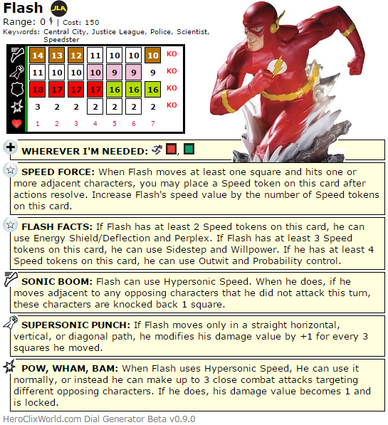 The Quintessential Flash HeroClix Dial