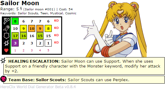 Sailor Moon HeroClix Dial