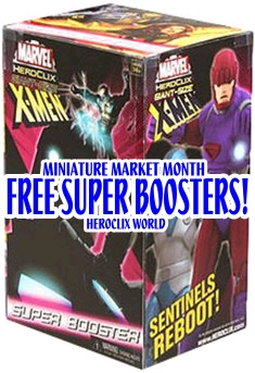HeroClix World Miniature Market Gsx Super Boosters
