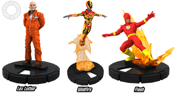 HeroClix Superman Lex Luthor Flash WildFire