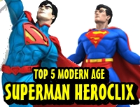 Top 5 Modern Age HeroClix Superman Figures