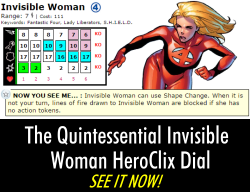 The Quintessential Invisbile Woman HeroClix
